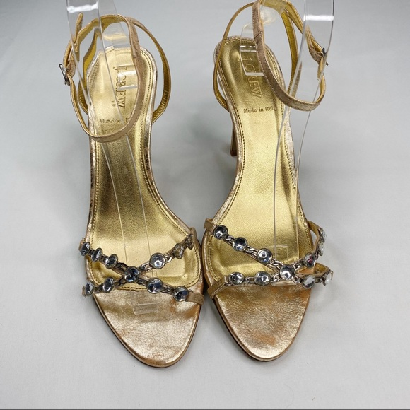 J. Crew Shoes - J. Crew Halsey Heels Crystal Strappy Sandal 9.5
